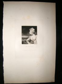 After Joshua Reynolds C1830 Folio Mezzotint. Mrs Robinson, Pretty Lady